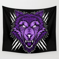howl Wall Tapestries featuring THE LAST HOWL  by DesecrateART (Infected)