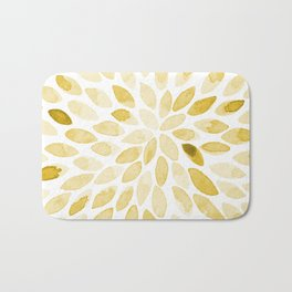 Watercolor brush strokes - yellow Bath Mat
