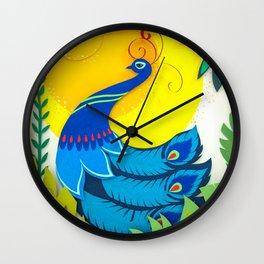Peacock Paper Art Wall Clock