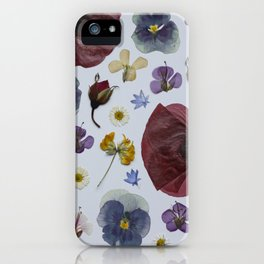 pressed wild flowers iPhone Case