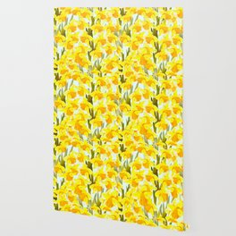 Spring Breeze With Yellow Flowers #decor #society6 #buyart Wallpaper