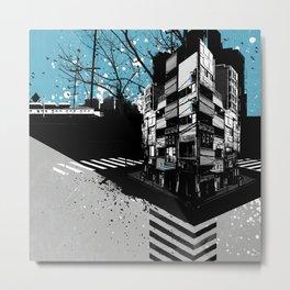 CMYK Triptych - Cyan Metal Print