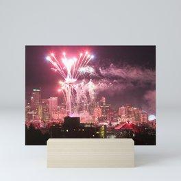 Seattle Skyline New Year Mini Art Print