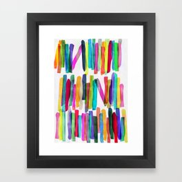 Colorful Stripes 5 Framed Art Print