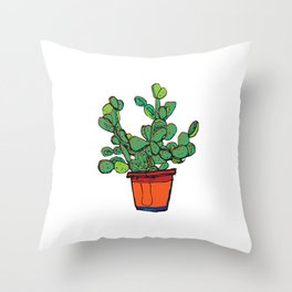 Cactus fractus Throw Pillow