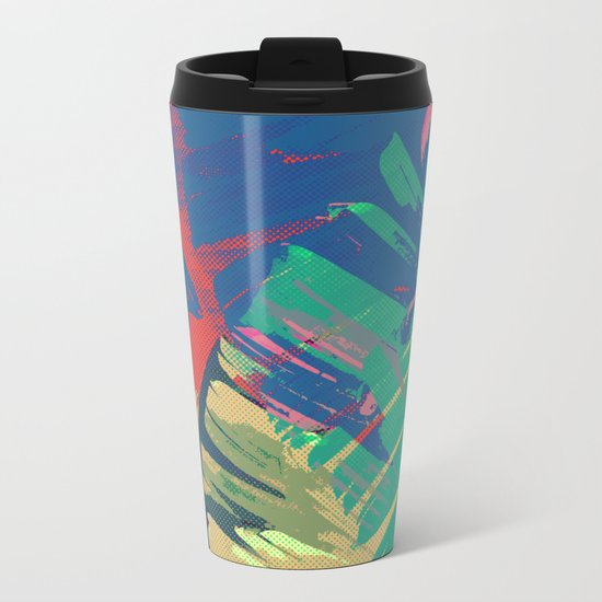 Tropic Topic Metal Travel Mug