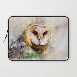 Watercolor Barn Owl Laptop Sleeve