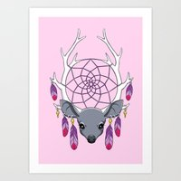 dreamcatcher Art Prints featuring Dreamcatcher by Freeminds
