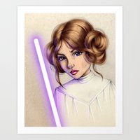 princess leia Art Prints featuring Princess Leia by kristen keller reeves