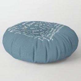 Quotes of the Heart - Destiel (White) Floor Pillow