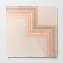 Cornered Soft Light Metal Print