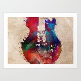 guitar art 6 #guitar #music Art Print