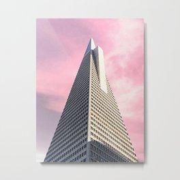 Pink Pyramid Metal Print
