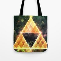 triforce Tote Bags featuring Triforce by Spires