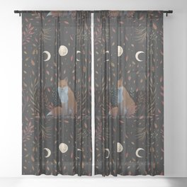 Autumn Fox Sheer Curtain