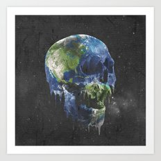 mothers dying Art Print