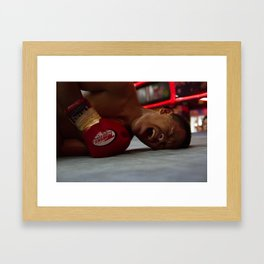 Down but Not Out. Framed Art Print