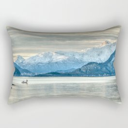 Norway Coastline Mountains Rectangular Pillow