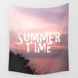 Summer Time - Sunset On The Sea Wall Tapestry