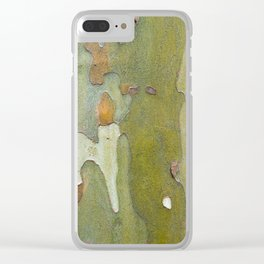 Sneaky Sycamore Clear iPhone Case