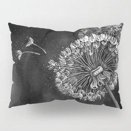 Dandelions, black & white Pillow Sham