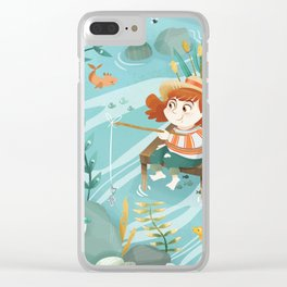Giadina goes to fishing Clear iPhone Case
