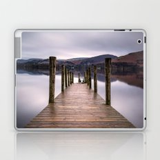 Lake View with Wooden Pier Laptop & iPad Skin