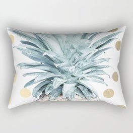 Pineapple crown - gold confetti Rectangular Pillow