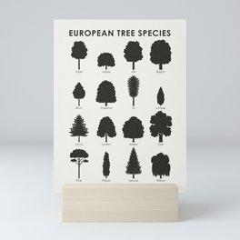 European Tree Species Mini Art Print