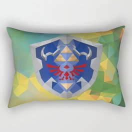 Low Poly Hyrule Shield Rectangular Pillow