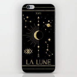 The Moon or La Lune Gold Edition iPhone Skin