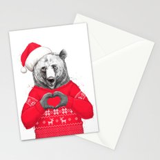 christmas bear Stationery Cards