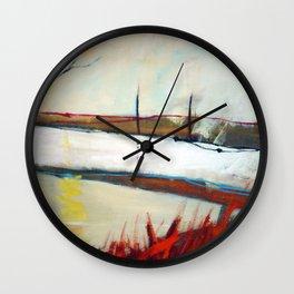 Across the line II Wall Clock