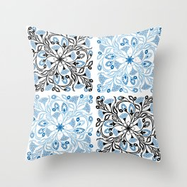 Floral Quarters Throw Pillow