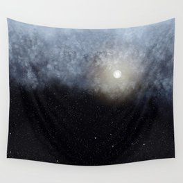 Glowing Moon in the night sky Wall Tapestry