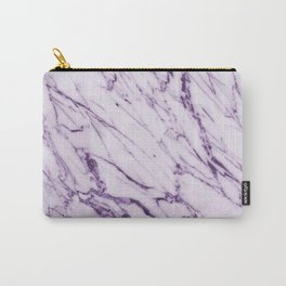 Violet Marble Design Carry-All Pouch