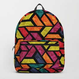 Seamless Colorful Geometric Pattern XI Backpack