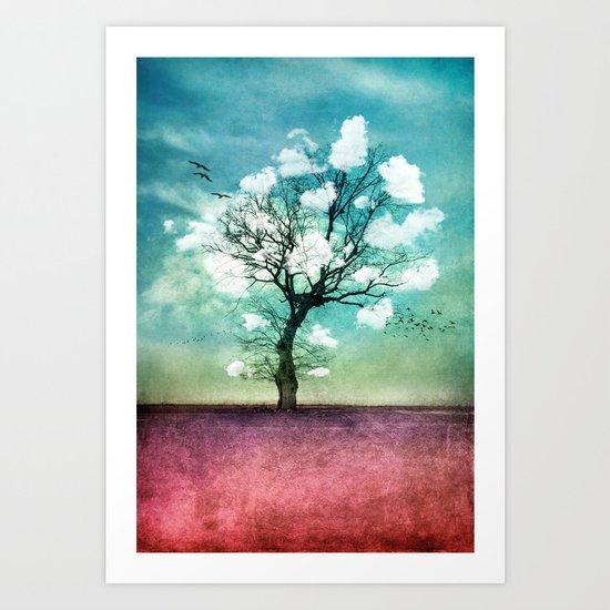 ATMOSPHERIC TREE | Pick me a cloud III Art Print