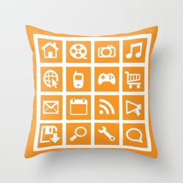 All Things Digital Throw Pillow