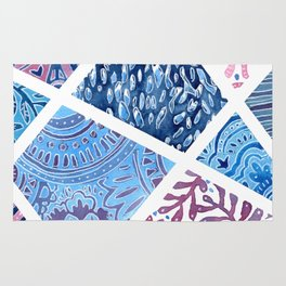 Sectional Patterns - Blue and Purple Rug