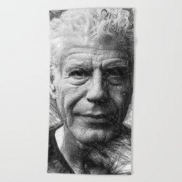 Anthony Bourdain Beach Towel
