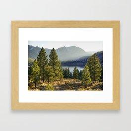 Beautiful landscape in California Framed Art Print