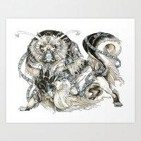 Snow Fu Art Print