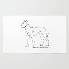 Spanish Alano sketch Rug