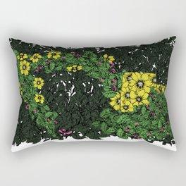 Flowers Excavator Rectangular Pillow
