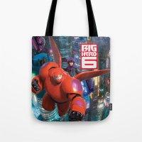 big hero 6 Tote Bags featuring Big Hero 6  by store2u