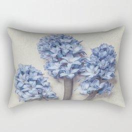 Light Blue Hyacinths Rectangular Pillow
