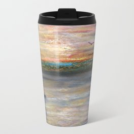 Boat and Bird in Oil Pastels Travel Mug