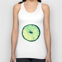lemon Tank Tops featuring Lemon by zabalza