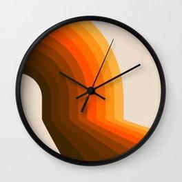Golden Halfbow Wall Clock